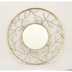 Chic Round Metal Wall Mirror
