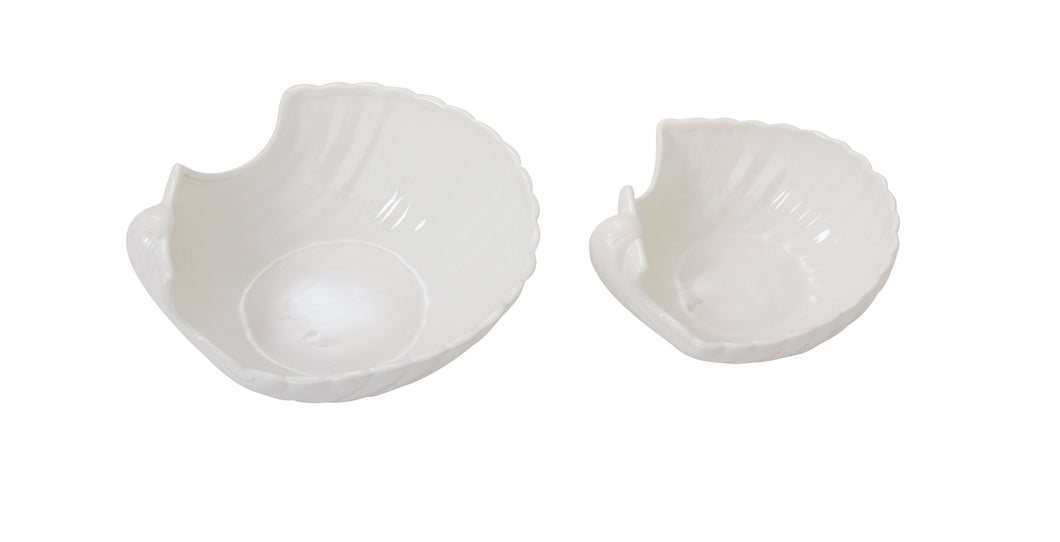 Ceramic Seashell Bowl Set Of 2