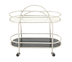 Multipurpose Stainless Steel Glass Oval Cart