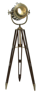 Tripod Spot Light Metallic Finish With Gold Glaze