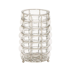 Fabulous Glass Metal Lantern Nickel