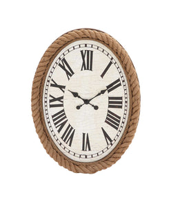 Fascinating Styled Wood Rowall Clock