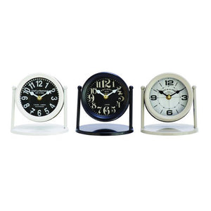 Gorgeous Metal Table Clock 3 Assorted