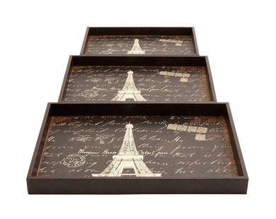 Wood Trays With A Persian Touch - Set Of 3
