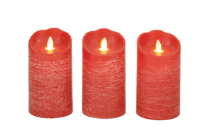 Lovely Set Of 3 Flameless Candle With Remote
