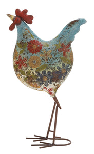 Multicolored Attractive Styled Metal Rooster
