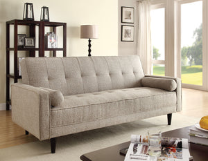 Acme Edana Adjustable Sofa with 2 Pillows, Sand Linen