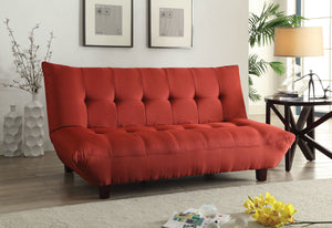 Acme Baines Adjustable Sofa, Red Linen