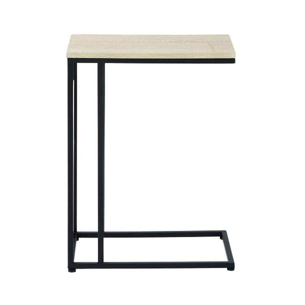 Simply Classic Metal Wood Accent Table