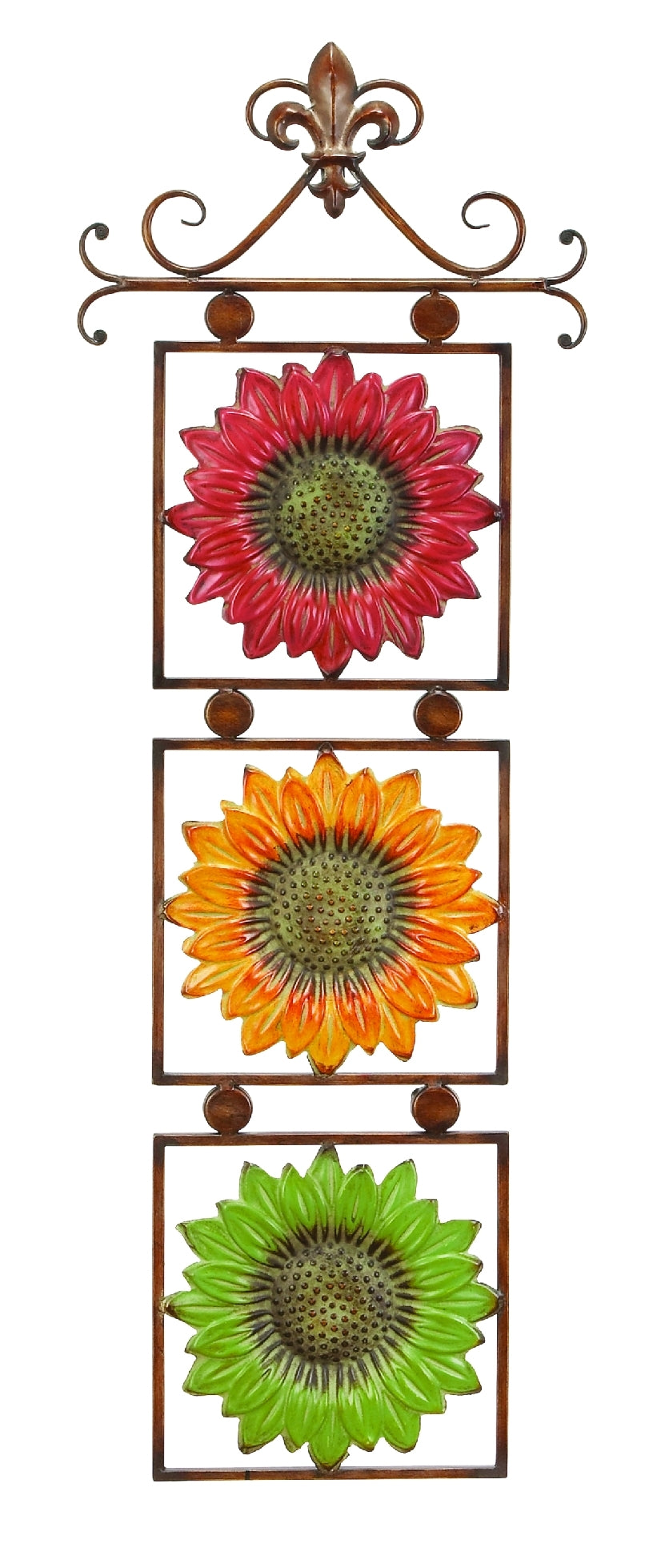 Metal Sunflower Decor 13 Inches Wide Gift For Every One