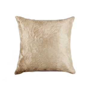 "Torino Cowhide Pillow 18"" X 18"" - Natural"