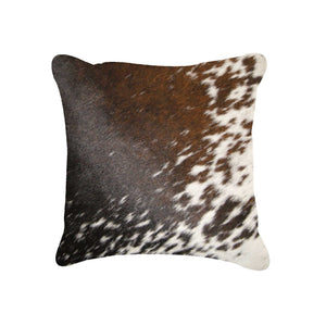 "Torino S & P Cowhide Pillow 18"" X 18"" - S&p Brown/white"