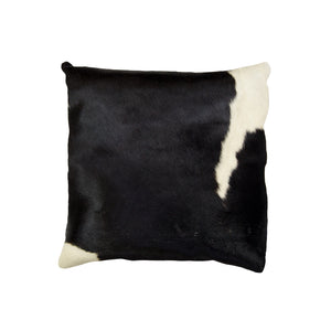 "Torino Kobe Cowhide Pillow 18"" X 18"" - Black & White"