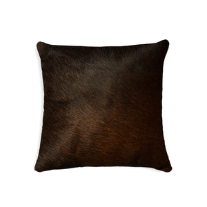 "Torino Cowhide Pillow 18"" X 18"" - Chocolate"