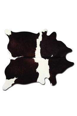 Kobe 6' X 7' Cowhide Rug - Chocolate & White