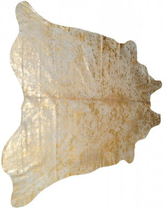 Scotland 6' X 7' Cowhide Rug - Natural & Gold