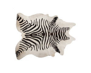 Togo 6' X 7' Cowhide Rug - Zebra Black On Off-white