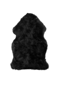 New Zealand Single Sheepskin Rug 2' X 3' - Black