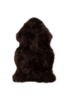 New Zealand Single Sheepskin Rug 2' X 3' - Chocolate