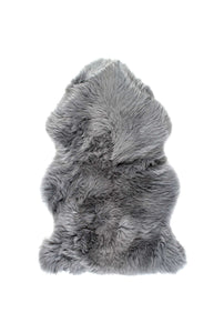 New Zealand Single Sheepskin Rug 2' X 3' - Grey
