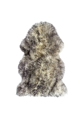 New Zealand Single Sheepskin Rug 2' X 3' - Gradient Grey