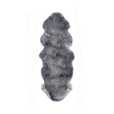 New Zealand Double Sheepskin Rug 2' X 6' - Grey