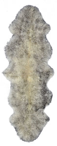 New Zealand Double Sheepskin Rug 2' X 6' - Gradient Grey