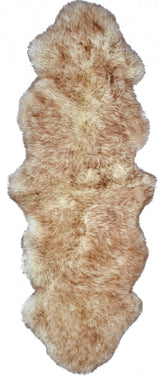 New Zealand Double Sheepskin Rug 2' X 6' - Gradient Chocolate