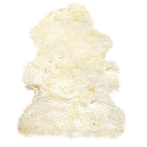 "New Zealand Curly Single Sheepskin Rug 2' X 3"" - Natural"