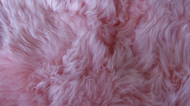 New Zealand Single Sheepskin Rug 2' X 3' - Pink