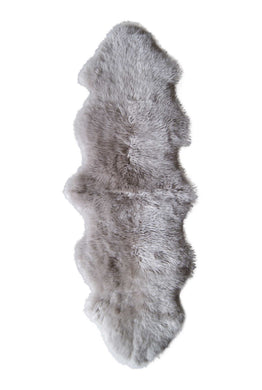 New Zealand Double Sheepskin Rug 2' X 6' - Taupe
