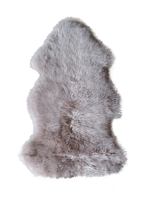 New Zealand Single Sheepskin 2' X 3' - Taupe