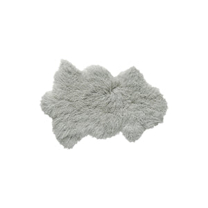 Mongolian Sheepskin Faux Fur Single Rug 2' X 3' - Sage Grey