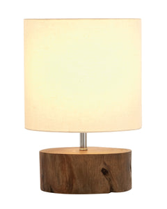 Beautiful Wood Mahogany Log Lamp