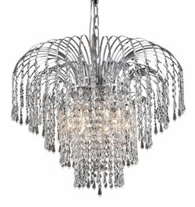 6801 Falls Collection Hanging Fixture D21in H18in Lt:6 Chrome Finish (Swarovski Strass/Elements Crystals)
