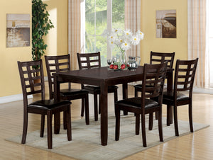 Acme Tahlia 7Pc Pack Dining Set, Espresso