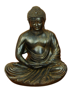 Gray & Brown Polystone Buddha 24 Inches High