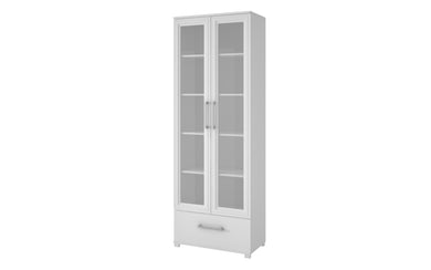Accentuations by Manhattan Comfort Serra 1.0- 5- Shelf Bookcase in  White