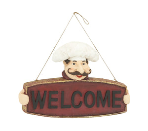 Striking Chef Welcome Sign