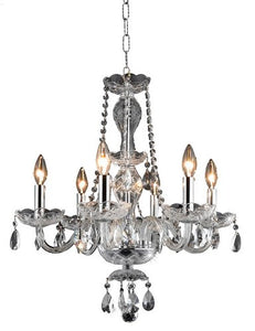 7836 Princeton Collection Hanging Fixture D20in H22in Lt:6 Chrome Finish (Royal Cut Crystal Clear)