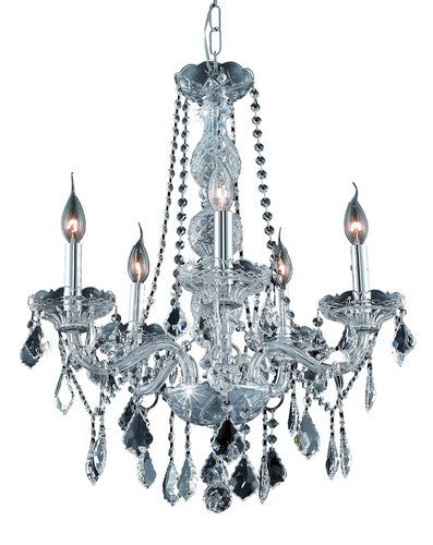7855 Verona Collection Hanging Fixture D21in H26in Lt:5 Chrome Finish (Swarovski Strass/Elements Crystals)