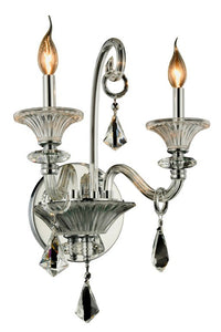 "Aurora Collection Wall Sconce W:16"" H:20"" E:11"" Lt:2 Chrome Finish"