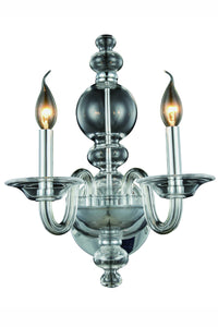 "Champlain Collection Wall Sconce W:10"" H:17"" E:9.5"" Lt:2 Chrome Finish"