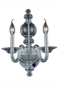 "Champlain Collection Wall Sconce W:10"" H:17"" E:9.5"" Lt:2 Siver Shade Finish"