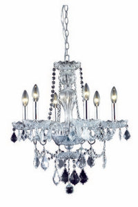 7896 Giselle Collection Hanging Fixture W21in H23in Lt:6 Chrome Finish (Royal Cut Crystals)