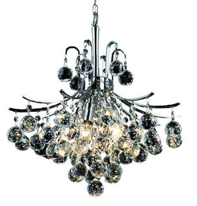 8000 Toureg Collection Hanging Fixture D16in H18in Lt:6 Chrome Finish (Royal Cut Crystals)
