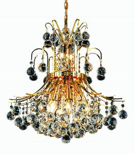8001 Toureg Collection Hanging Fixture D19in H23in Lt:10 Gold Finish (Swarovski Spectra Crystals)