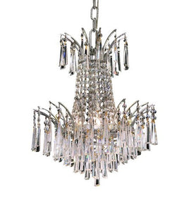 8032 Victoria Collection Hanging Fixture D16in H16in Lt:4 Chrome Finish (Swarovski Spectra Crystals)