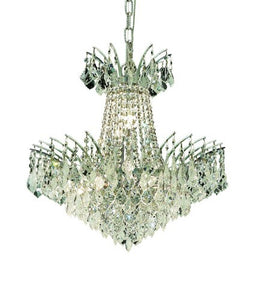 8033 Victoria Collection Hanging Fixture D19in H19in Lt:8 Chrome Finish (Swarovski Strass/Elements Crystals)