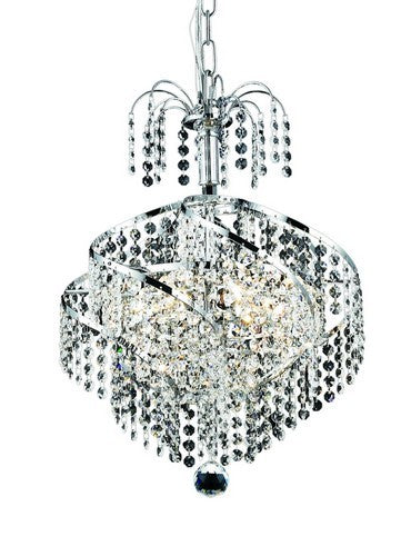 8052 Spiral Collection Hanging Fixture D14in H16in Lt:3 Chrome Finish (Strass/Elements Swarovski Crystal)